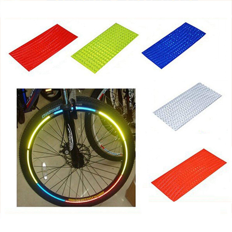 SODIAL Fahrrad Reflektor Fluoreszierende MTB Fahrrad Aufkleber Radfahren Felge Reflektierende Aufkleber Aufkleber Zubehoer Rot