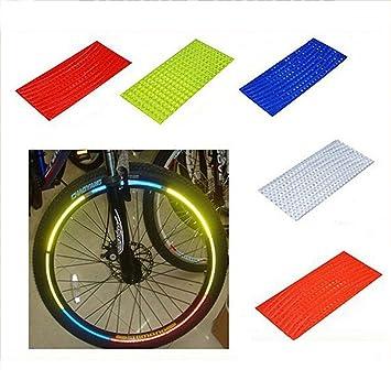 XZANTE Pegatina De Bicicleta MTB Fluorescente Reflector De Bicicleta Accesorios Calcomanía Pegatinas Reflectantes De Llanta De Rueda De Ciclismo Plata: ...