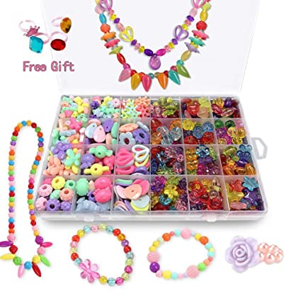 Amazon Com Bead Kits For Girls Kids Crafts Girls Jewelry Making