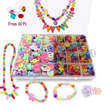 a534bf2d6b6d2 Bead Kits for Girls - Kids Crafts Girls Jewelry Making Kits Colorful  Acrylic Girls Bead Set Jewelry Crafting Set