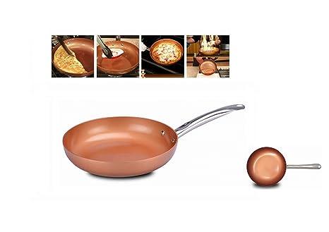Sarten antiadherente con particulas 100% de cobre anunciada en TV diametro 24cm aluminio con recubrimiento