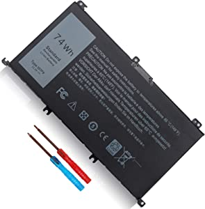 74Wh 357F9 71JF4 0GFJ6 Battery Fit for Dell Inspiron 15 7000 5000 Series Gaming Laptop 7557 7559 i7559 i7559-3763blk i7559-5012gry 7566 7567 5576 5577 P57F P57F003 P65F P65F001 INS15PD