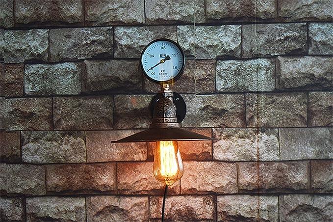 E retro industriale ferro fatto a mano acqua tubo lampada da