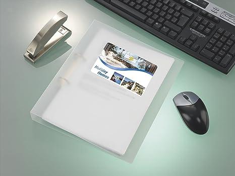 Tico PG4-6136 Etichette Lucide Rettangolari 100 FF 61 x 36 Bianco
