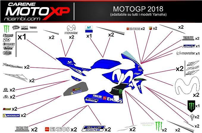 Pegatinas Adhesivos Motos Racing Yamaha R1 2015 2016 2017 2018 MT18: Amazon.es: Coche y moto