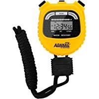MARATHON Adanac 3000 digitale sport stopwatch timer met extra groot display en knoppen, waterbestendig - geel