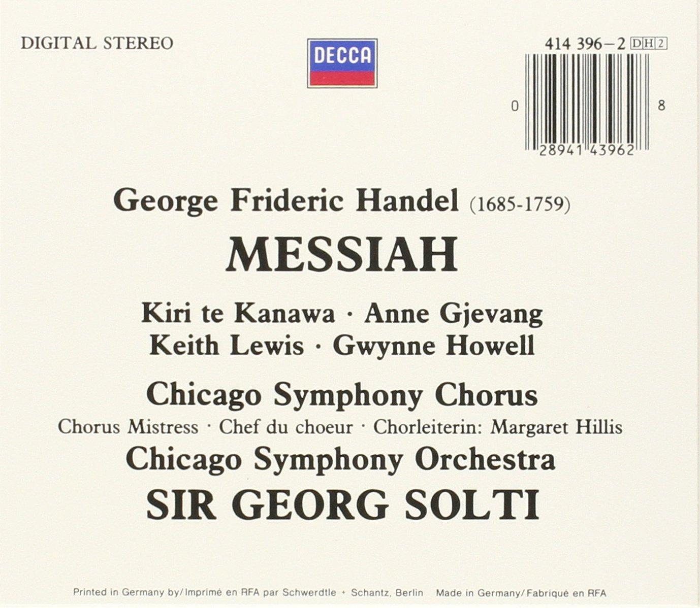 Handel: Messiah by Decca