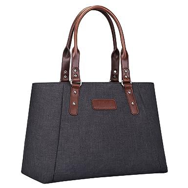 S-ZONE Women s Handbags Lightweight Large Tote Casual Work Bag (Black) 7bdce9724