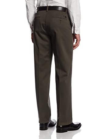Men's Comfort Waist Custom Relaxed Fit Flat Front Pant