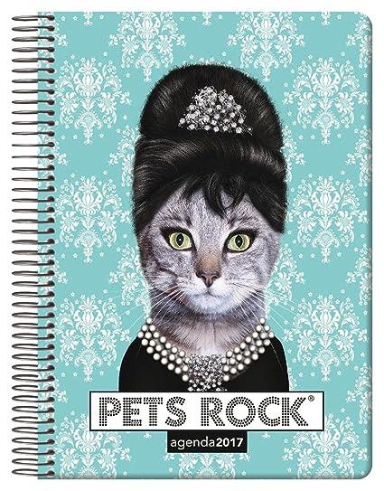 Dohe Pets Rock - Agenda 2017 con diseño breakfast, día página, 15 x 21 cm