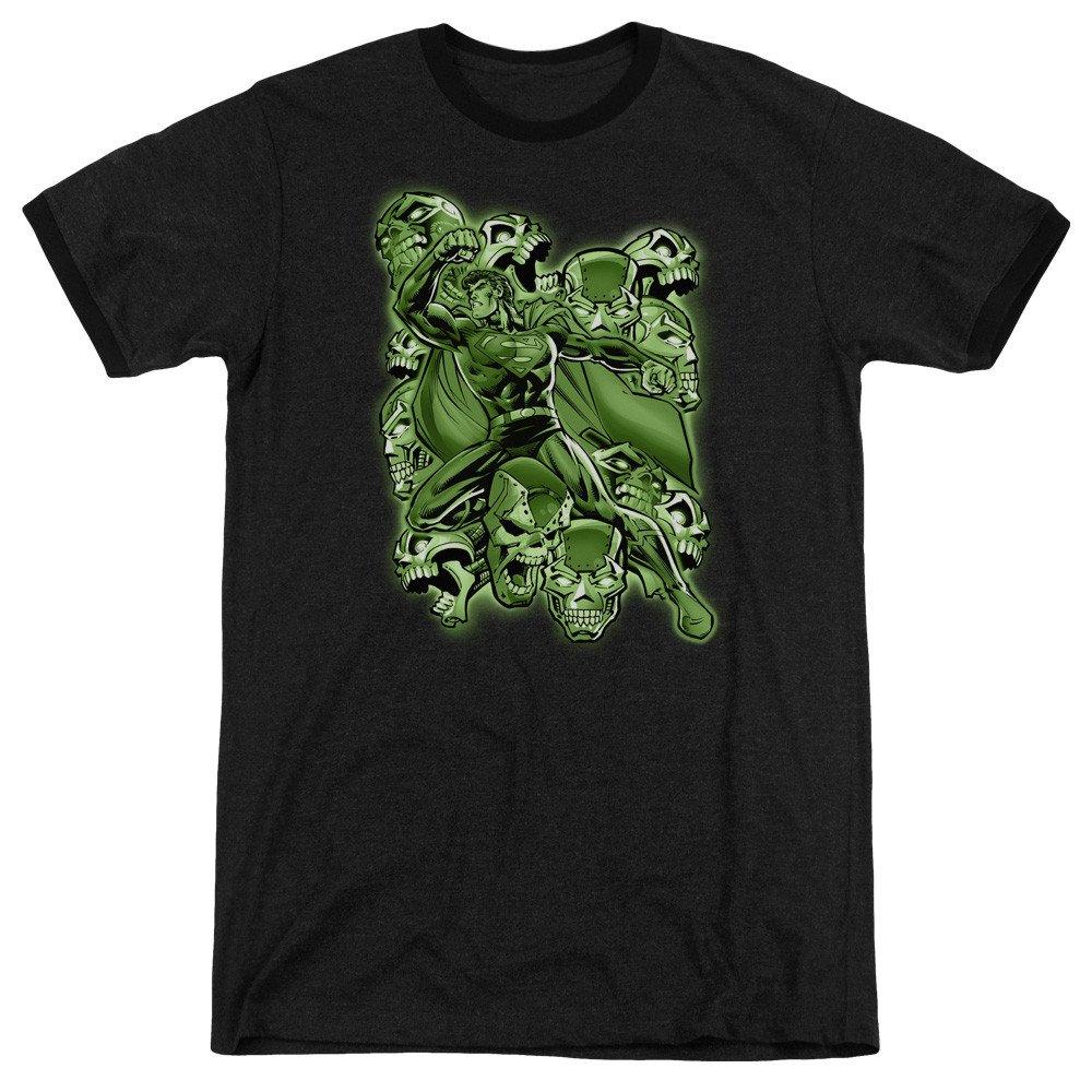 Metallo Mayhem Adult Ringer T Sons of Gotham Superman Shirt L