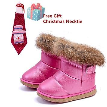 Botas Bebé Niña, Morbuy Botas de Nieve Zapatos Para Bebé Invierno e Mantente Caliente Casual Martin Botas Charming Botines Regalo de Navidad 1-5 Años de ...