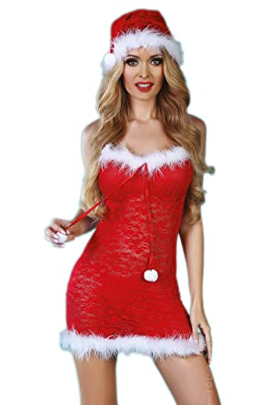 LivCo Corsetti Christmas Laurita Rot Dessous Weihnachten S//XL Weihnachtskostüm