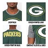 Ultra Game Men's NFL T-Shirt Raglan Block Short