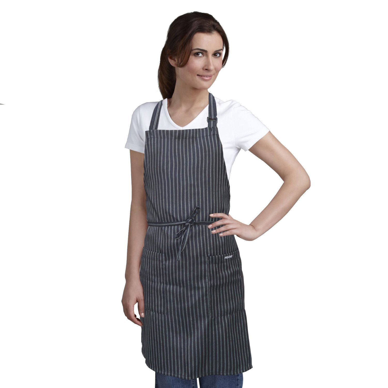White apron toronto - Bib Apron Striped With Pockets Kitchen And Restaurant Aprons For Women And Men Perfect For Chef And Restaurant Uniforms Chef Wear For All Cooking