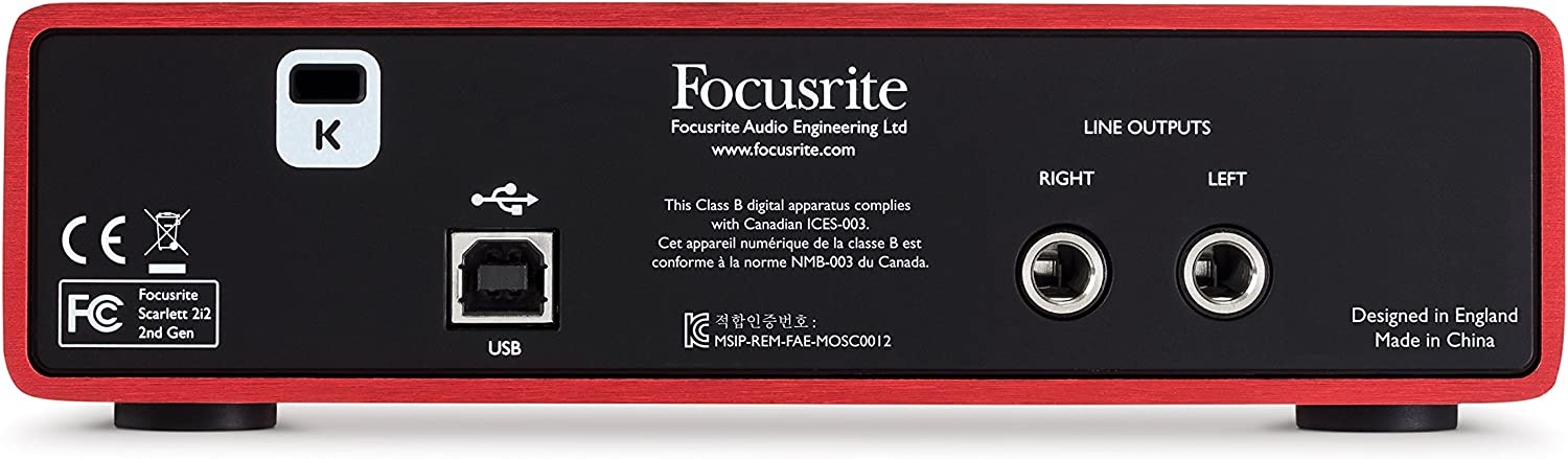 Amazon.com: Focusrite Scarlett 2i2 (2ª generación) Interfaz ...