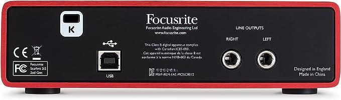Focusrite Scarlett 2i2 (2° Gen) Padres.: Amazon.es: Instrumentos musicales