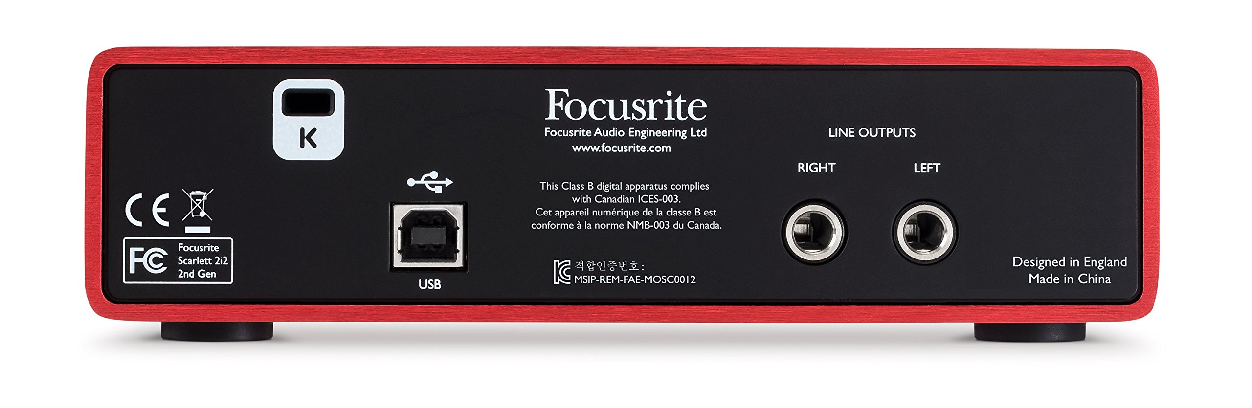 Focusrite Scarlett 2i2 (2nd Gen) USB Audio Interface with Pro Tools | First by Focusrite (Image #4)