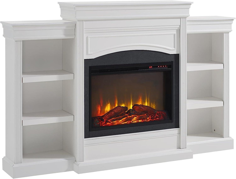 Ameriwood Home Lamont Mantel Fireplace, White