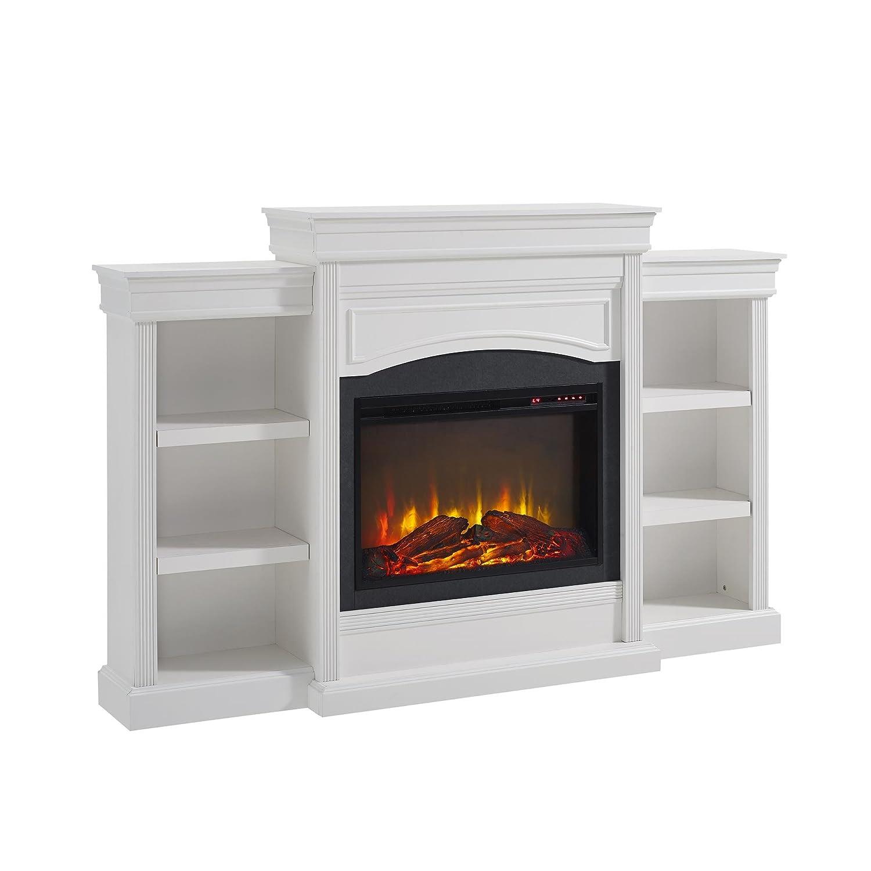 Amazon Com Ameriwood Home Lamont Mantel Fireplace White Kitchen