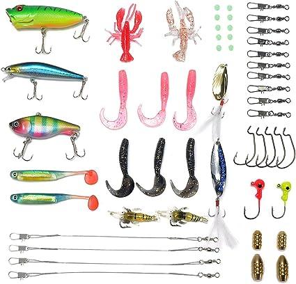 Amazon.com : Supertrip Fishing Lures kit-Crankbaits Soft Lures