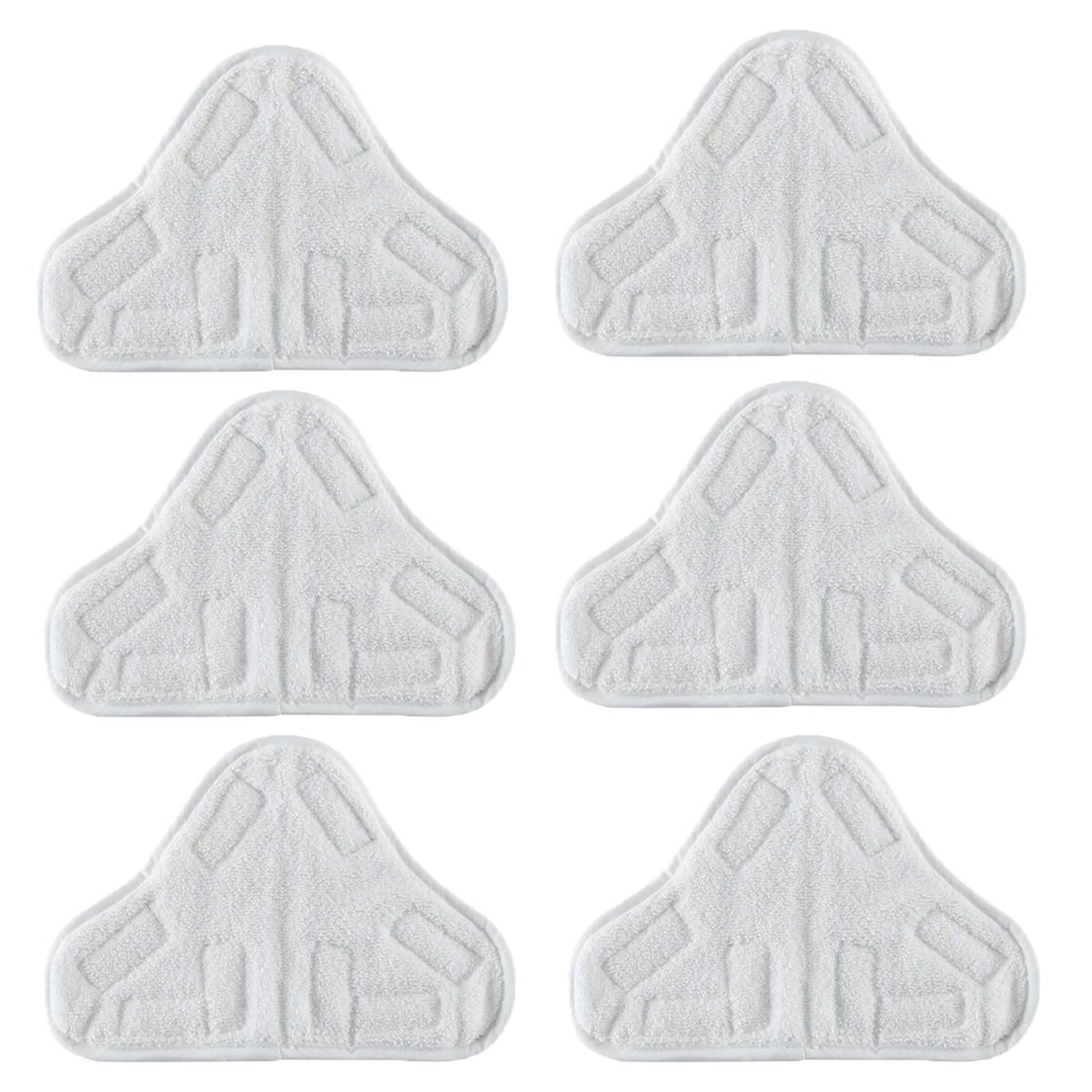 VacFit Steam Mop Pads for Steamboy H20 X 5 Steam Duster Washable Triangle Microfiber Cleaning Pads Cloth Pad Vacuum Cleaner Accessories Replacement Pads White 6 pcs