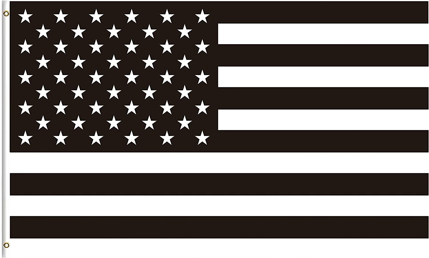 Amazon.com : ShineSnow Black and White American Flag 5x8 Feet Flag, Polyester 4th of July Independence Memorial Day Patrotic Double Stitched with Brass Grommets 5 X 8 Ft Flag for Outdoor Indoor