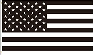 ShineSnow Black and White American Flag 4x6 Feet Flag, Polyester 4th of July Independence Memorial Day Patrotic Double Stitched with Brass Grommets 4 X 6 Ft Flag for Outdoor Indoor Decor