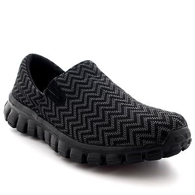 Womens Walking Super Lightweight Gym Sports Running Shoes Shock Absorbing  Trainers - Black - UK3/