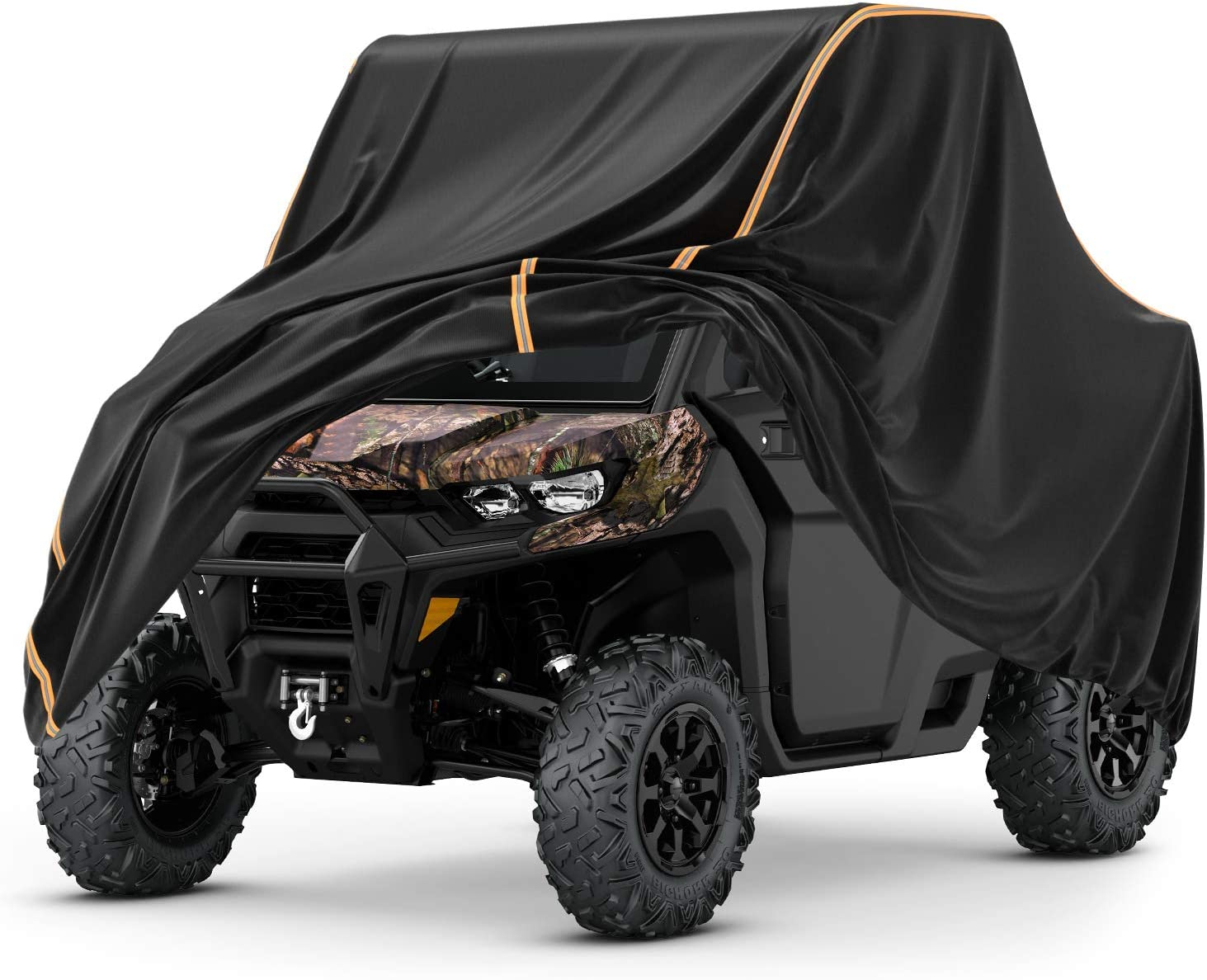 Kemimoto UTV Cover, All- Weather Protection UTV Cover compatible with Can Am Defender Commander Polaris RZR Ranger Yamaha Rhino Honda Pioneer Kawasaki Mule Teryx 2-3 Seaters Large 126
