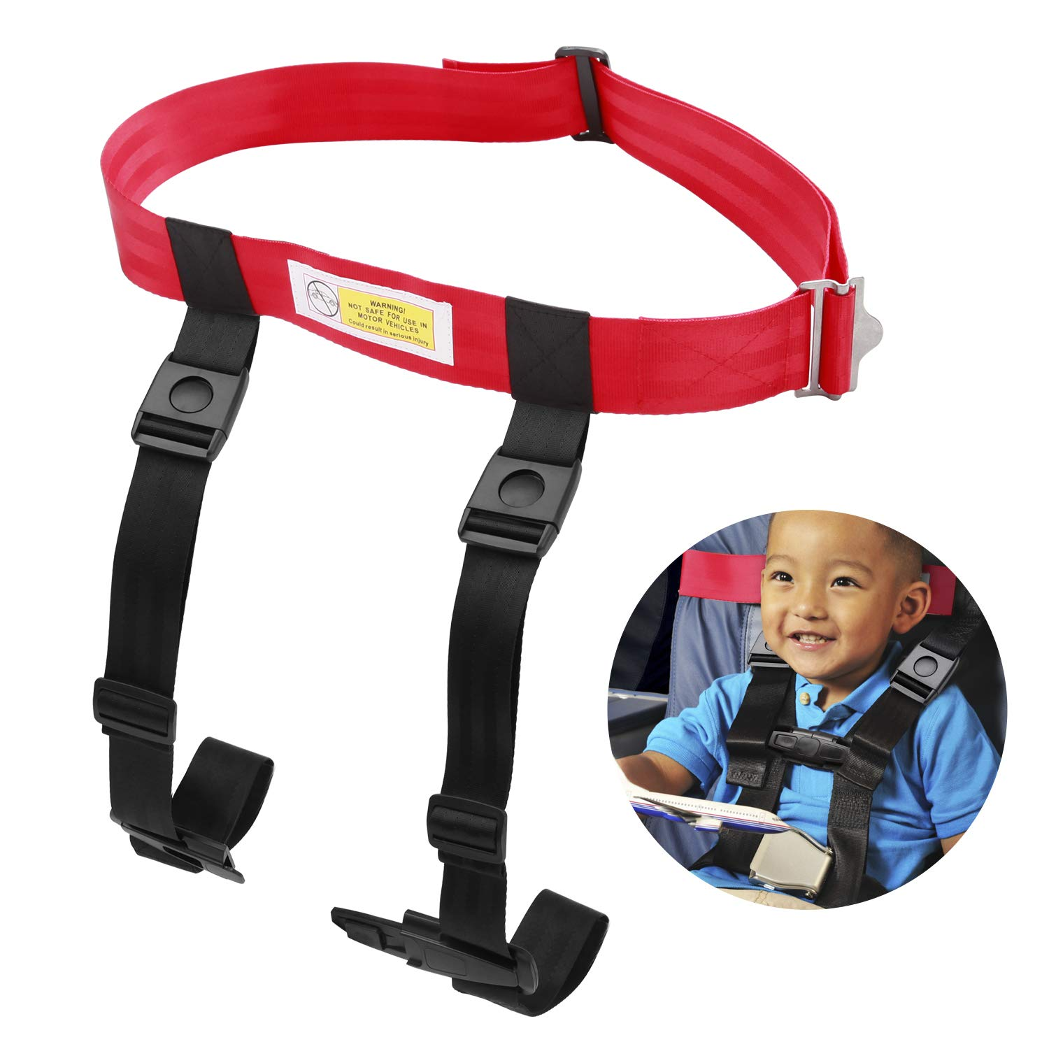 Child Airplane Safety Travel Harness, Clip Strap Safety Airplane Child Restraint System for Baby,Toddlers & Kids - Airplane Travel Accessories for Aviation Travel Use by MASCARRY (Image #1)