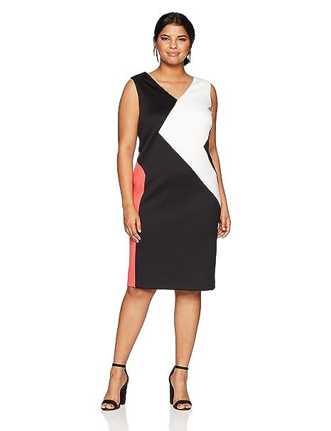 6d56c359a Calvin Klein Para Mujer W8ABS935 Sin Mangas Vestido: Amazon.es: Ropa y  accesorios