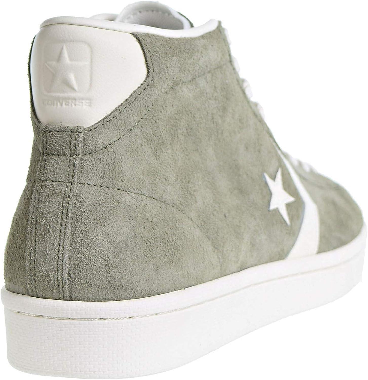 Converse PRO Leather MID Mens Skateboarding-Shoes 157690C Medium Olive/Egret