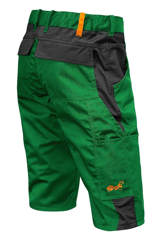 strongAnt Pantalones Cortos de Trabajo para el Verano 280 GR - Hecho en la UE - Kermen - Verde 211KURZ-GNS-46