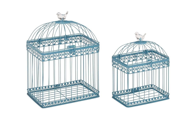 Deco 79 Metal acrílico Rectangular Jaula de pájaros, 16 por 30,48 ...