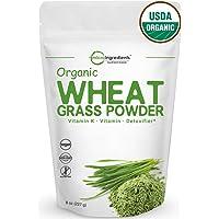 Sustainably US Grown, Organic Wheat Grass Powder, 75 Serving (8 Ounce), Rich Fiber, Chlorophyll, Antioxidants, Essential Amino Acids, Fatty Acids, Minerals & Vitamins. Best Vegan & Non-GMO Superfoods.
