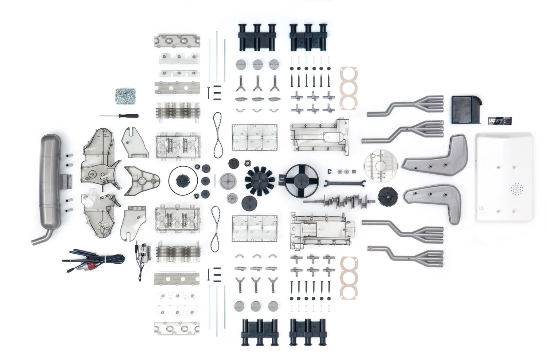 Amazon.com: Cbl Distribution Limited Porsche Flat-Six Boxer Engine Model  Kit: Franzis Verlag: Toys & Games