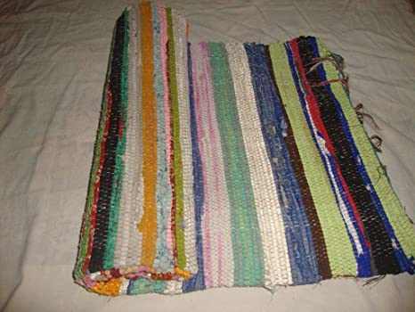 Tappeti In Tessuto Riciclato : Handloomed tessuto a mano tappetino per yoga tappeto vintage
