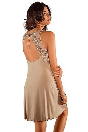 Nina von C. Negligee Hemdrock mit Spitze Unterkleid Nachtkleid  Amazon.de   Bekleidung fa2fdeb1fb