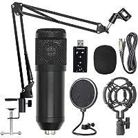 Tomshin Kit de microfone de suspensão profissional BM800 Conjunto de microfone condensador de gravação de transmissão ao…