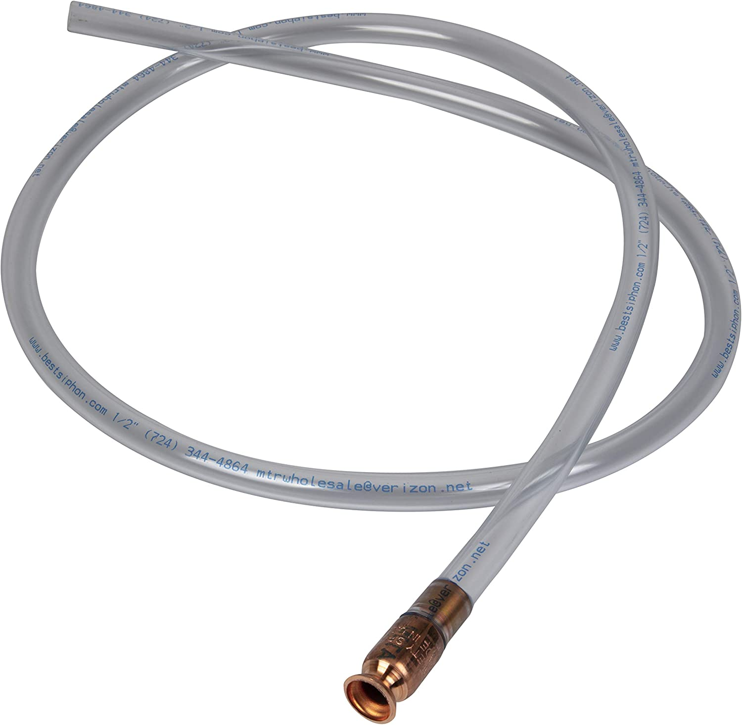 The Original Safety Siphon Safety Siphon - Safe Multi-Purpose Self Priming Fuel Pump 10 Foot Hose, 1/2 Valve - Pack of 2