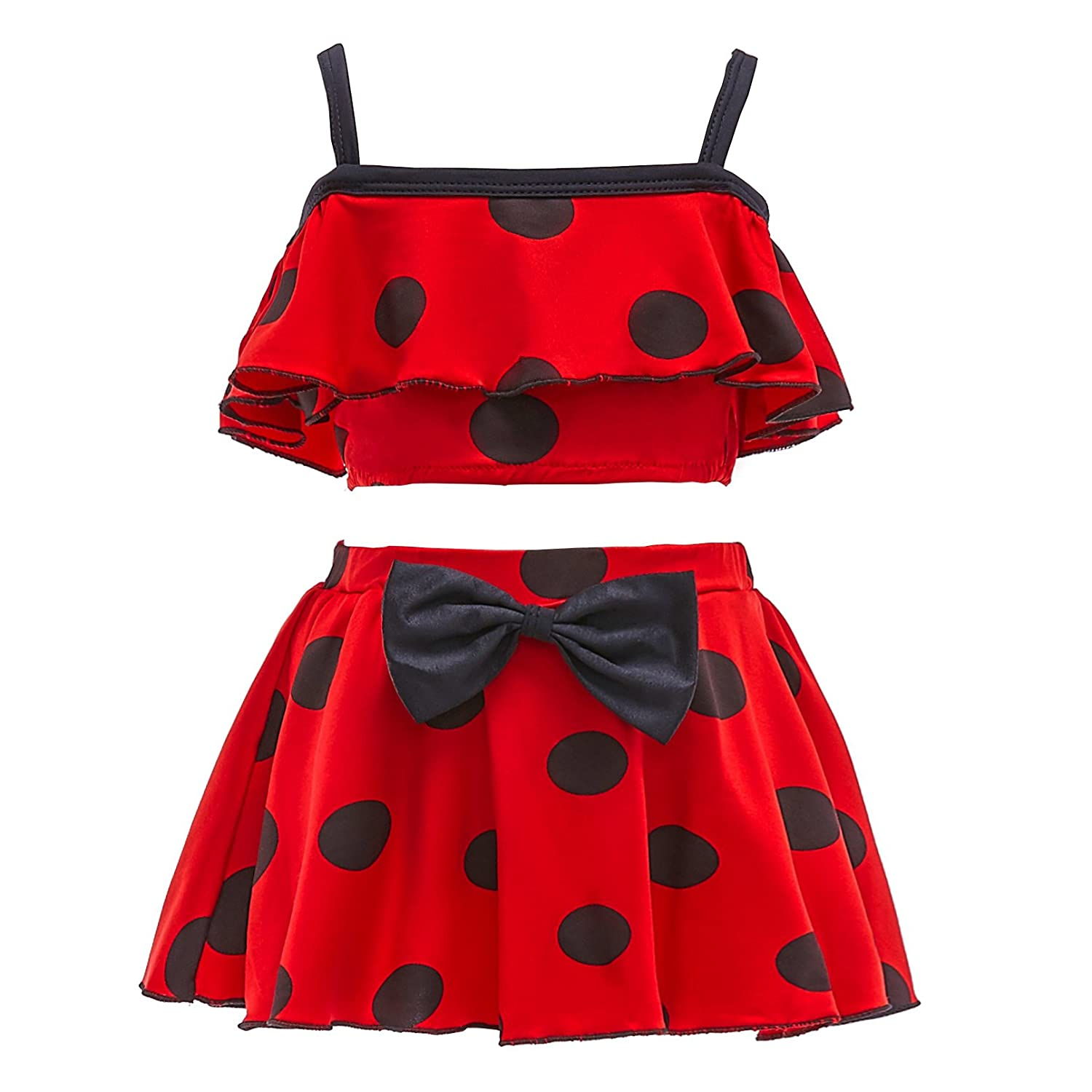 Dressy Daisy Girls Miraculous Ladybug Bathing Suit Tankini Swimsuit Swimwear SW056