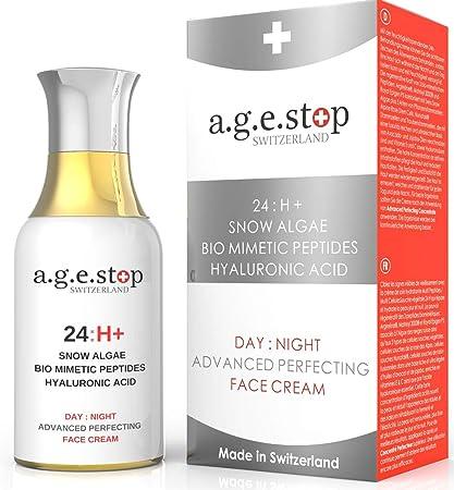 Día: Crema de cara nocturna de Age Stop Suiza, algas de la nieve,