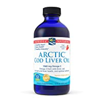 Nordic Naturals Arctic Cod Liver Oil, Strawberry - 8 oz - 1060 mg Total Omega-3s with EPA & DHA - Heart & Brain Health, Healthy Immunity, Overall Wellness - Non-GMO - 48 Servings