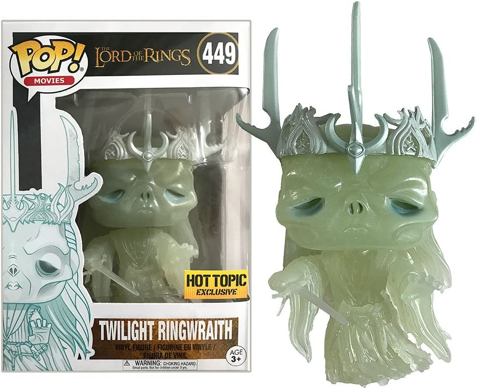 Funko Pop Movies Lord of the Rings Twilight Ringwraith Hot Topic Exclusive Glow In The Dark Vinyl Figure #449 with Protector Case