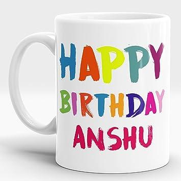 Amazon.com: lastwave Feliz cumpleaños regalo para Anshu ...