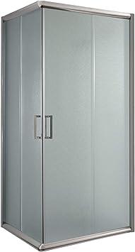 Cabina de ducha cuadrada de 70 x 70 x 198 cm, estampado C de 6 mm de grosor: Amazon.es: Bricolaje y herramientas