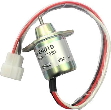 [SODI_2457]   Amazon.com: 119653-77950 M806808 12V Fuel Cut Off Solenoid - SINOCMP  1503ES-12S5SUC5S Shut Off Solenoid For Yanmar Woodward 4TNV94L-SFN Parts, 3  Month Warranty: Home Improvement | Woodward Fuel Solenoid 12 Volt Wiring Diagram |  | Amazon.com