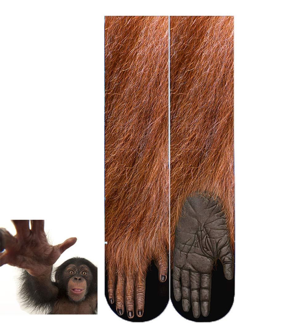 BONTOUJOUR Creative Unisex Men Women Fun Socks 3D Print Animal Feet Pattern Novelty Socks Paw Crew Socks- Tiger-1