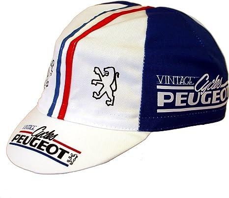 Peugeot Campagnolo Gorra para ciclismo, diseño retro: Amazon.es ...